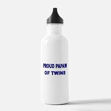 PROUD PAPAW OF TWINS Water Bottle