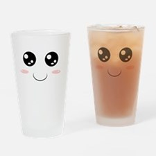 Smiley Kawaii Face Drinking Glass