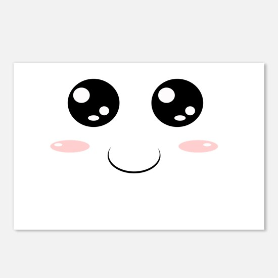 Smiley Kawaii Face Postcards (Package of 8)