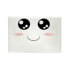 Smiley Kawaii Face Rectangle Magnet