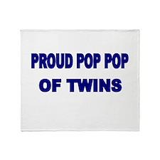 PROUD POP POP OF TWINS Throw Blanket