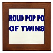 PROUD POP POP OF TWINS Framed Tile