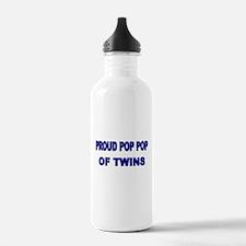 PROUD POP POP OF TWINS Water Bottle