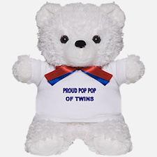 PROUD POP POP OF TWINS Teddy Bear