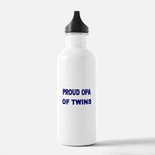 PROUD OPA OF TWINS 2 Water Bottle