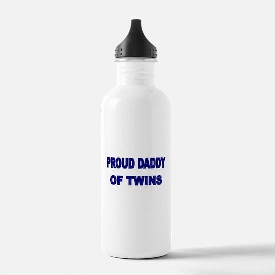 PROUD DADDY OF TWINS 2 Water Bottle