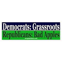Republicans: Bad Apples Bumper Bumper Sticker