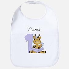 Personalized Giraffe Fairy 1 Bib