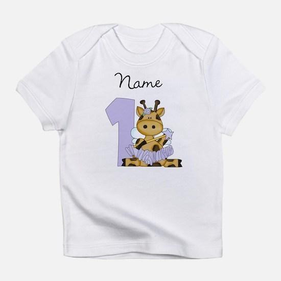 Personalized Giraffe Fairy 1 Infant T-Shirt