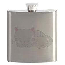Sleepy Gray Tabby Flask