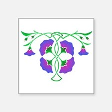 Morning glories in celtic knot Sticker