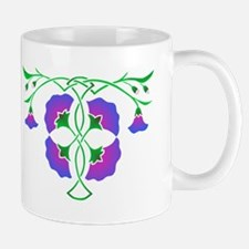 Morning glories in celtic knot Mug