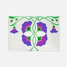 Morning glories in celtic knot Rectangle Magnet