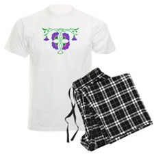 Morning glories in celtic knot Pajamas