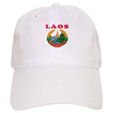Laos Coat Of Arms Designs Baseball Cap