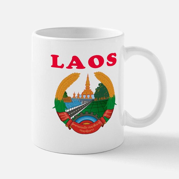 Laos Coat Of Arms Designs Mug