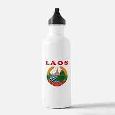 Laos Coat Of Arms Designs Water Bottle