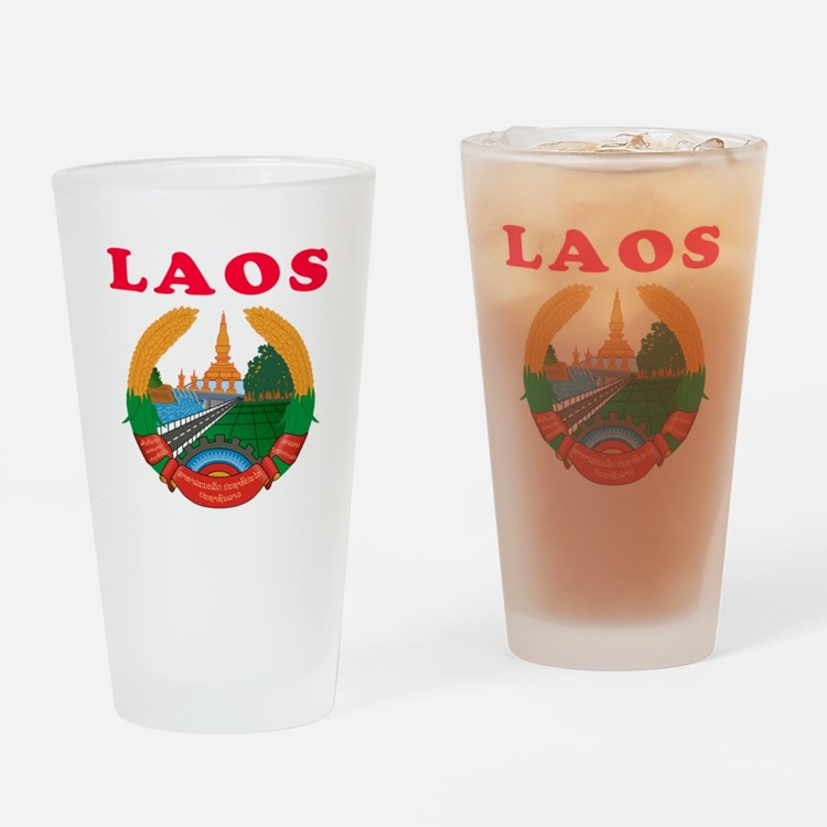 Laos Coat Of Arms Designs Drinking Glass