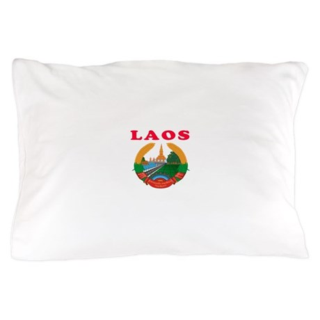 Laos Coat Of Arms Designs Pillow Case & Laos Boyfriend Bedding | CafePress pillowsntoast.com