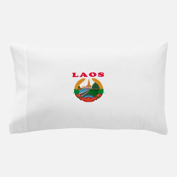 Laos Coat Of Arms Designs Pillow Case
