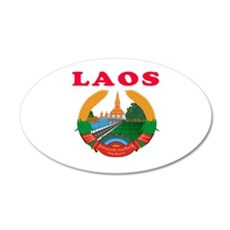 Laos Coat Of Arms Designs Wall Decal