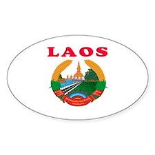 Laos Coat Of Arms Designs Decal