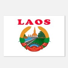 Laos Coat Of Arms Designs Postcards (Package of 8)