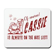 Nice List Cassie Christmas Mousepad