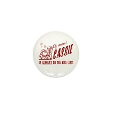 Nice List Cassie Christmas Mini Button (10 pack)