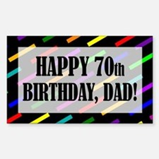 70th Birthday For Dad Sticker (Rectangle)