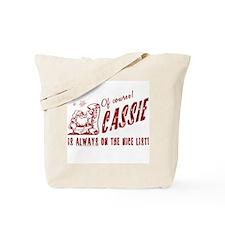 Nice List Cassie Christmas Tote Bag