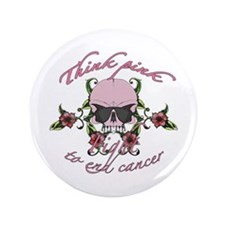 """Fight Cancer 3.5"""" Button (100 pack)"""