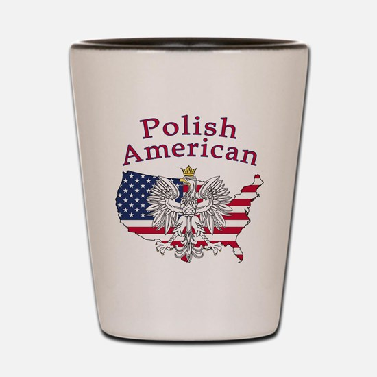 Polish American Map Shot Glass