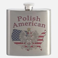 Polish American Map Flask