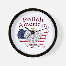 Polish American Map Wall Clock