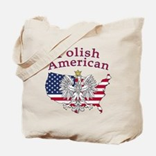 Polish American Map Tote Bag