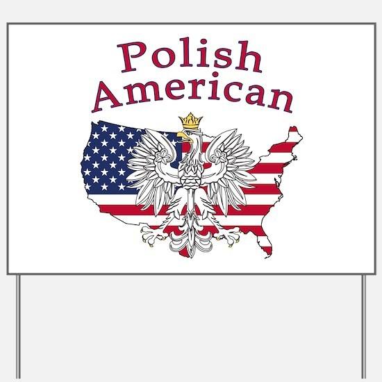Polish American Map Yard Sign