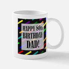 80th Birthday For Dad Small Small Mug