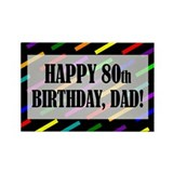 80th birthday Magnets