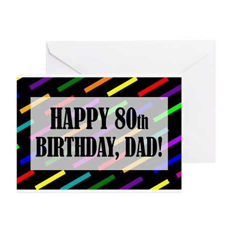 80th Birthday For Dad Greeting Cards (Pk of 10)