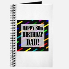 80th Birthday For Dad Journal