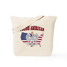 Polish American Map Tote Bag