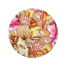 "Sea Shells 3.5"" Button"