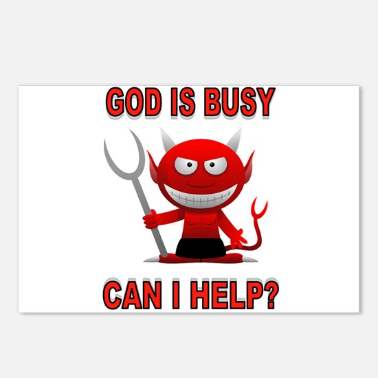GOD'S BUSY Postcards (Package of 8)