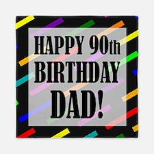 90th Birthday For Dad Queen Duvet
