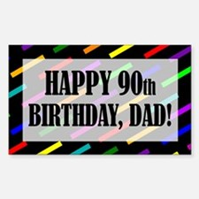 90th Birthday For Dad Sticker (Rectangle)