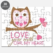 Love you with owl my heart Puzzle