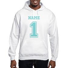 Blue Number One Hoodie Sweatshirt