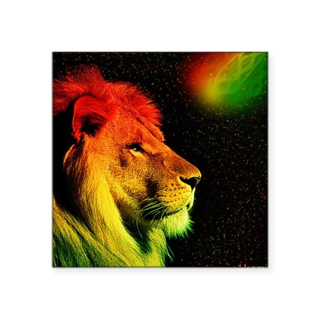 Rasta Lion Sticker by listing-store-112214071