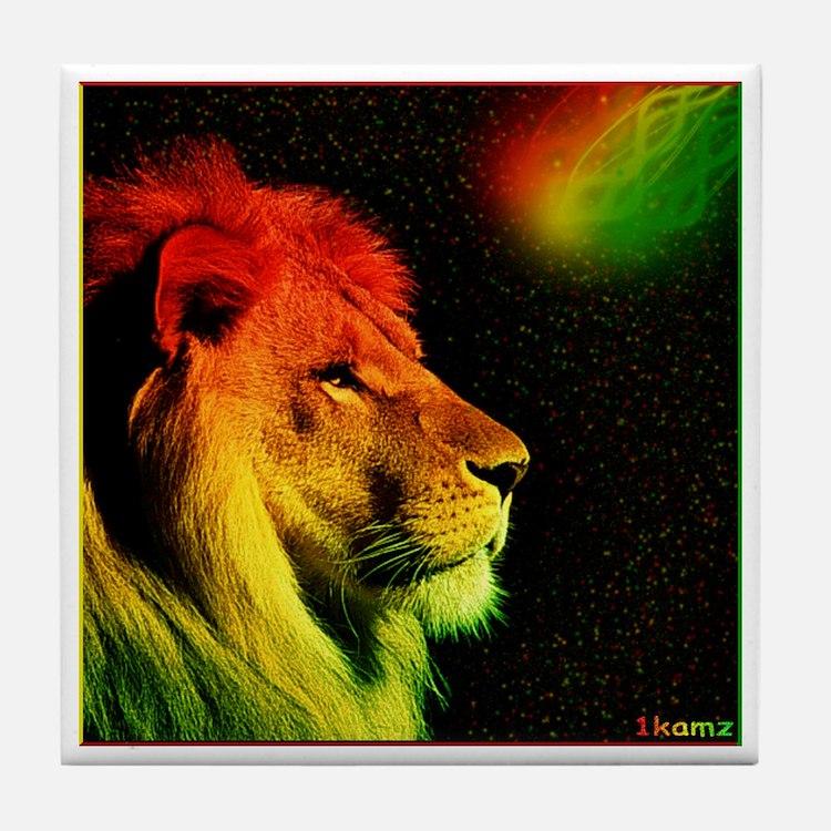 Rasta Lion Tile Coaster